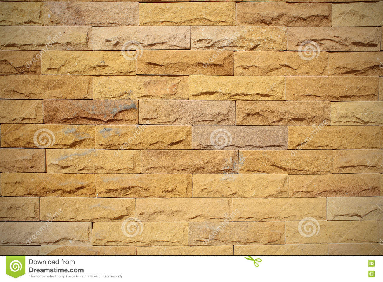 Pattern Background Color Of Crack Real Stone Wall On Cement. Stock ...
