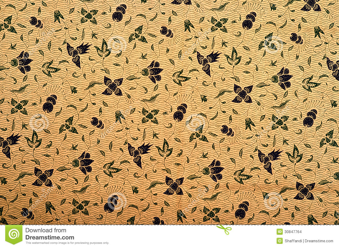 Old style batik background. Pattern and Batik Textile with fabric.
