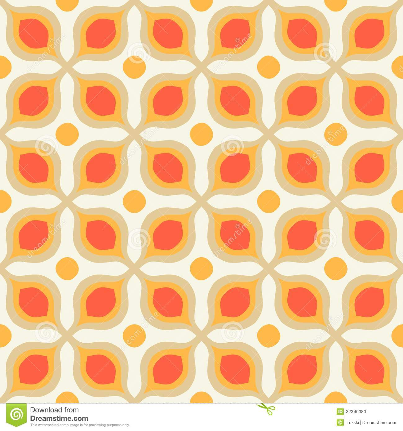 pattern with bold geometric shapes in 1970s style stock photo