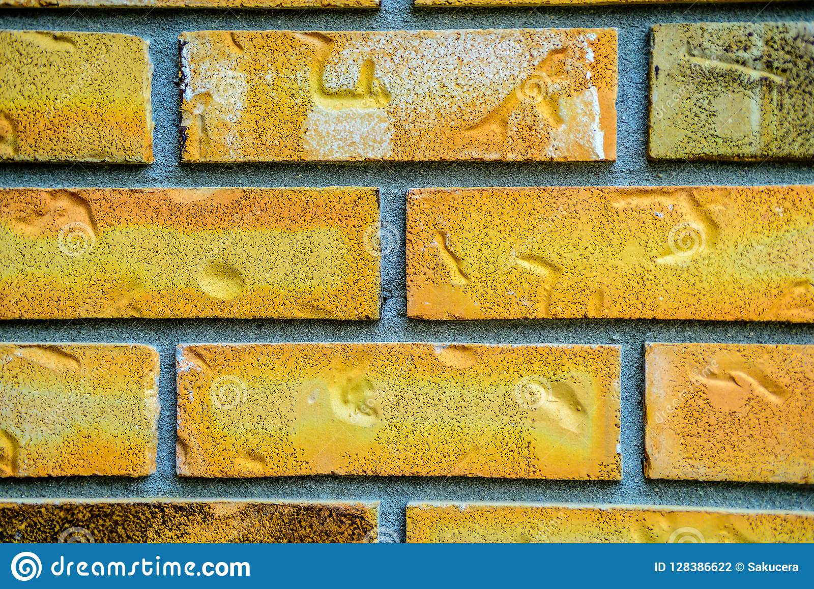 Pattern of bricks and mortar grouped as abstract background.