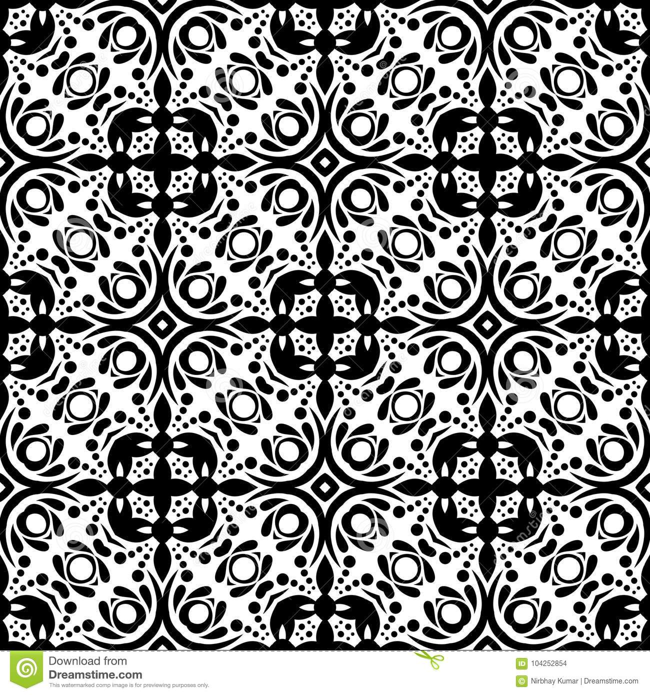 Floral geomagnetic seamless pattern vector