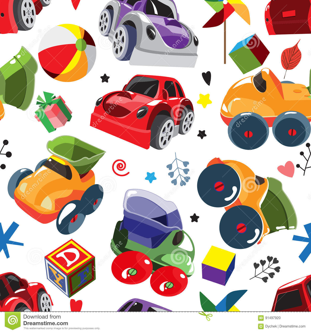 7f991fd0d25d7 The Pattern For Children With Motor Cars. Stock Vector ...