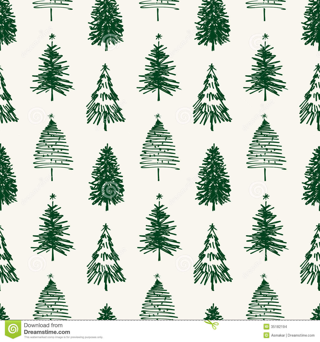 Christmas Tree Pattern.Pattern Of Christmas Trees Stock Vector Illustration Of