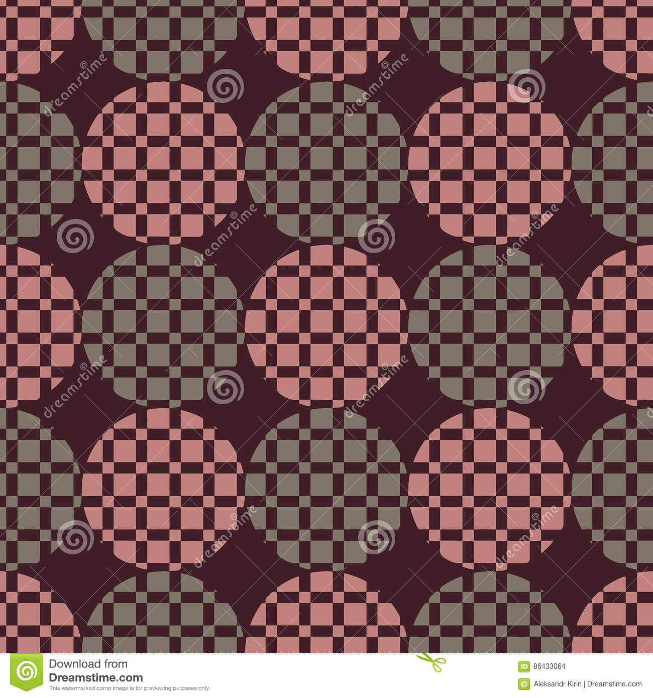 The pattern of circles and squares