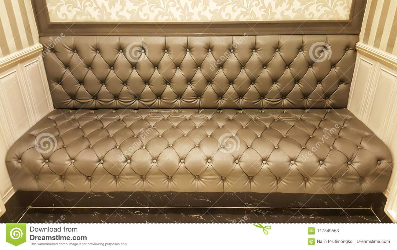 Pattern Of Classic Leather Sofa Brown Sofa Background And Texture