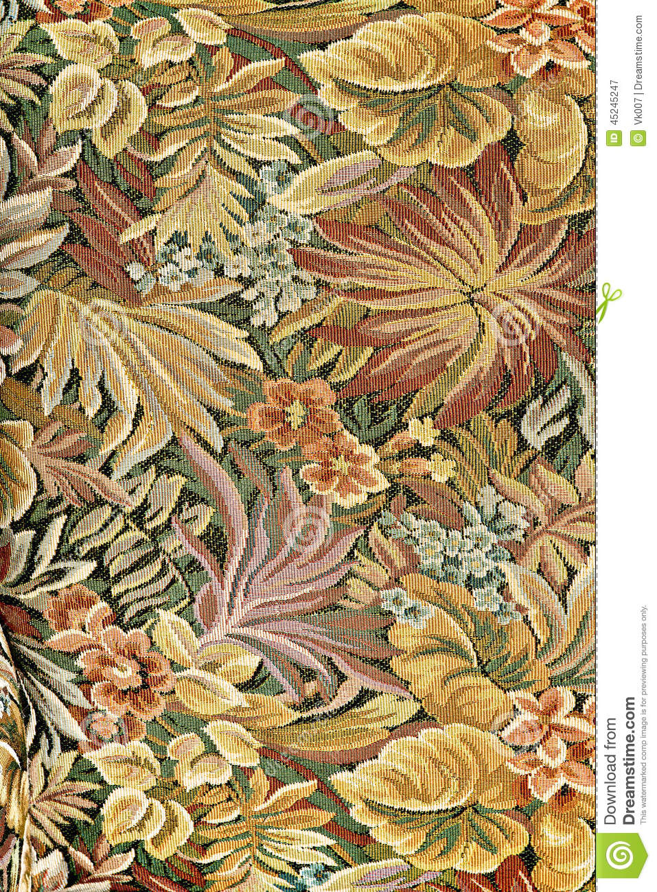 Pattern Classical Ornate Floral Tapestry Stock Image Antique Carpet