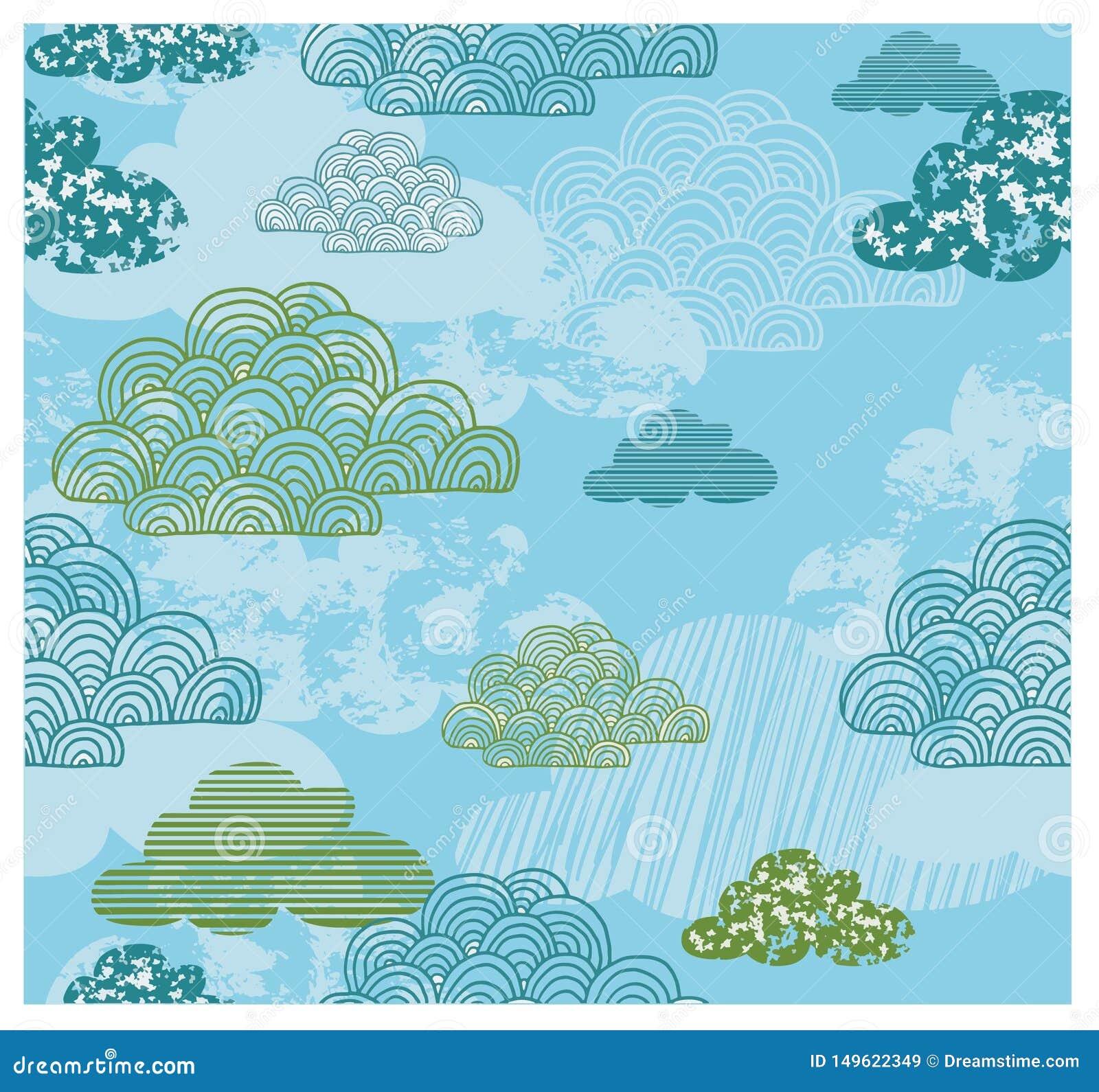 Cloud Kids Theme Pattern