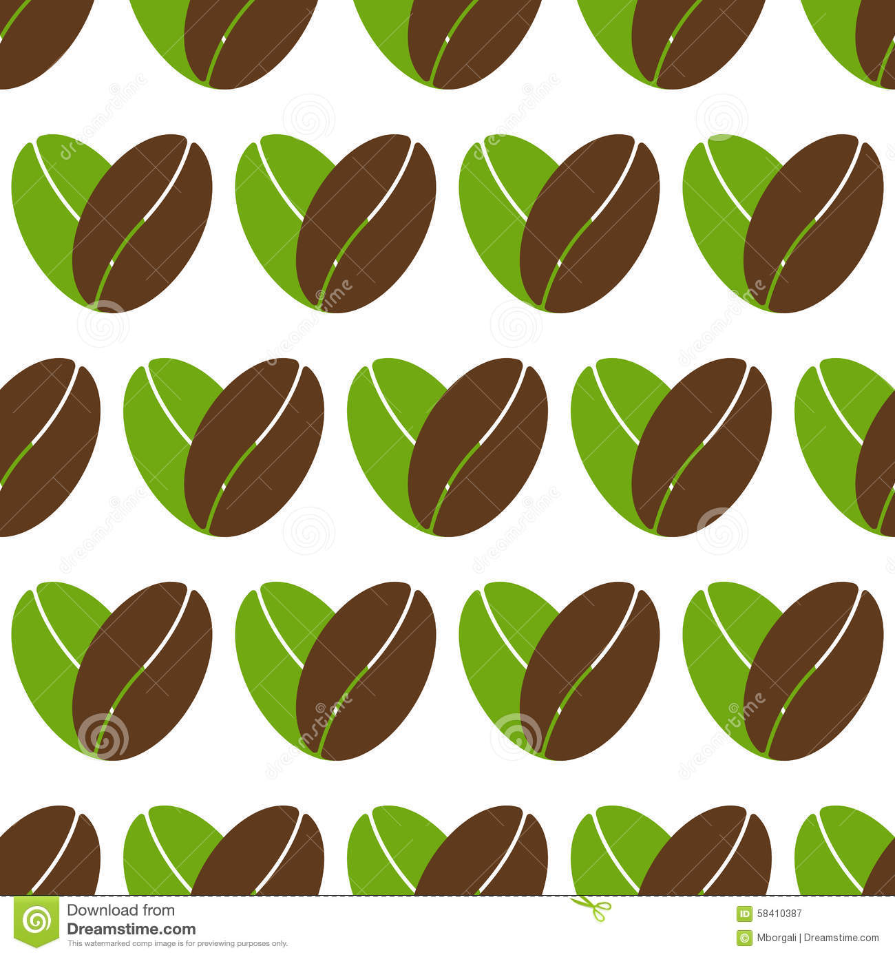 pattern with coffee heart logos stock vector