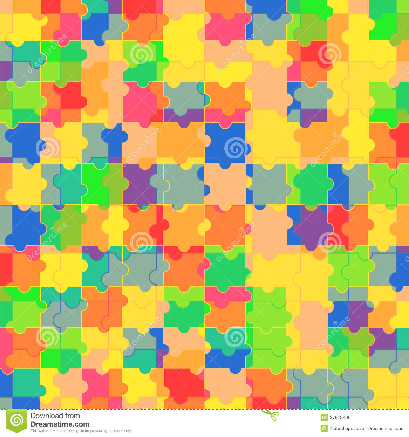 Pattern Of Colorful Puzzle