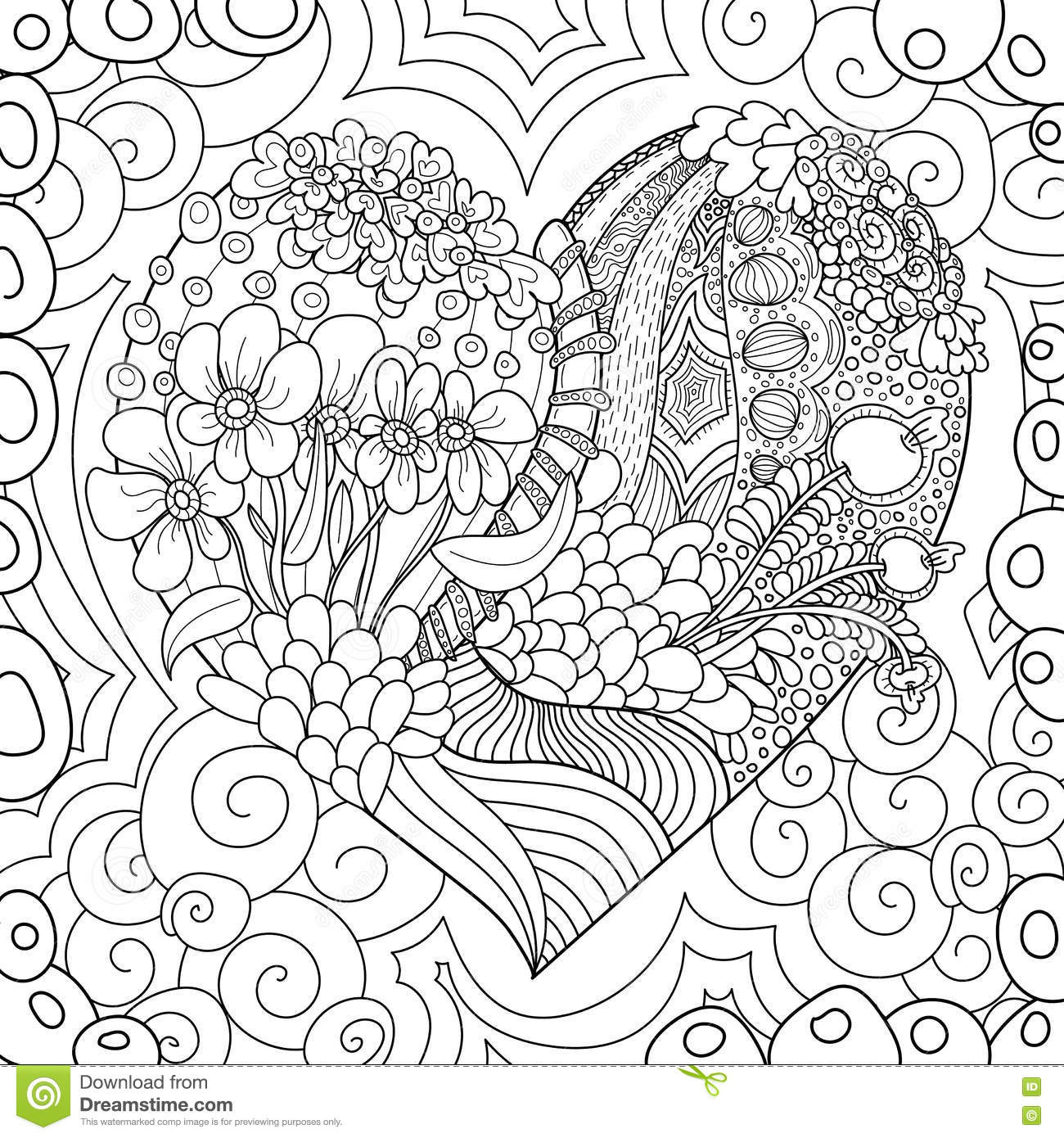 Download Pattern For Coloring Book Ethnic Retro Design Stock Vector
