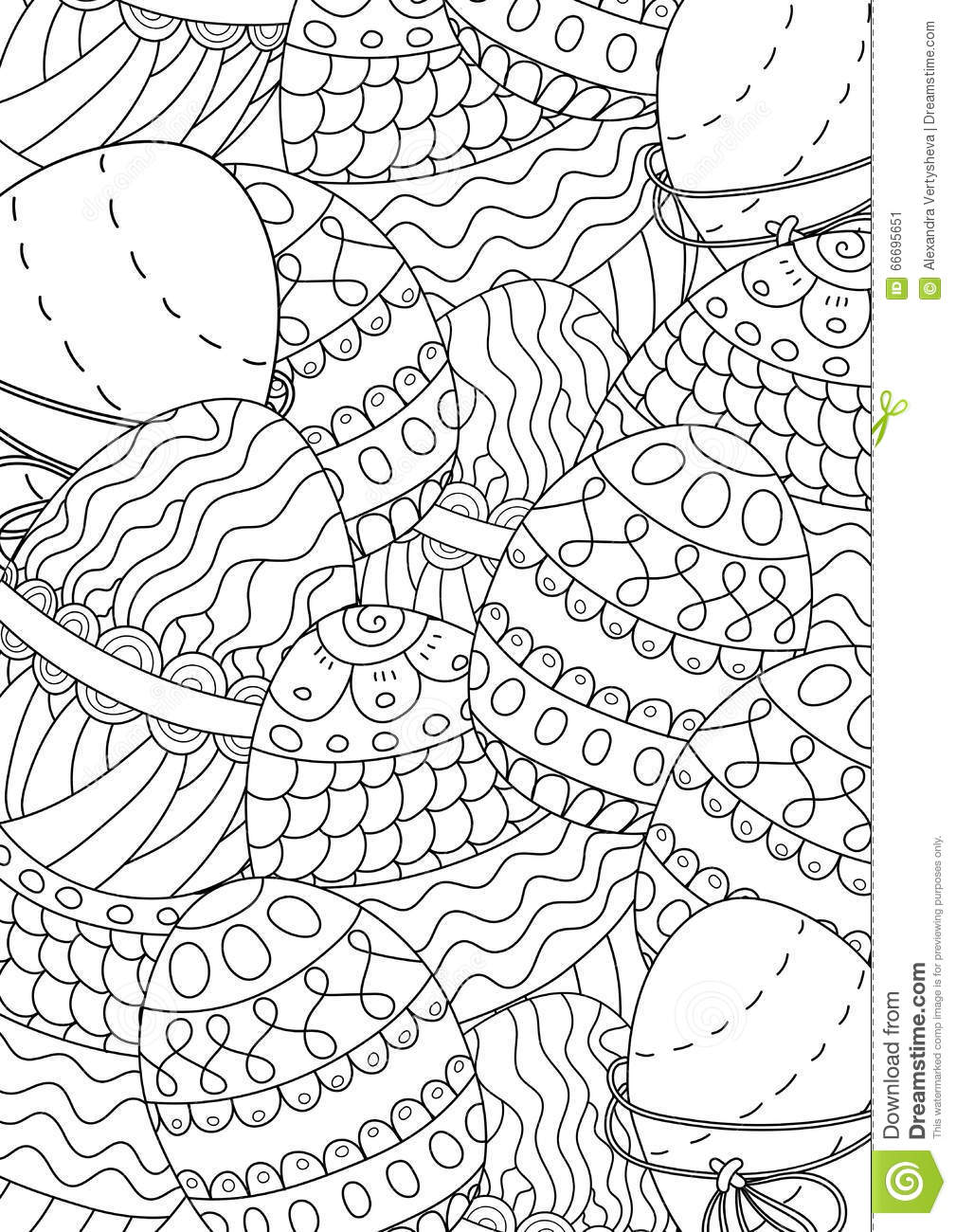 pattern for coloring book  ethnic retro design stock