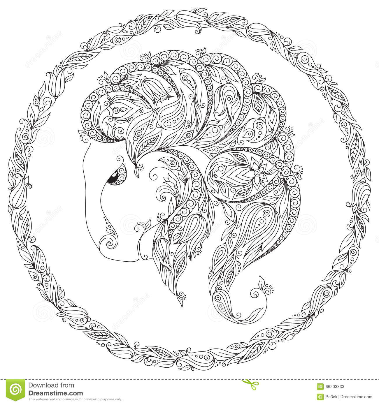 pattern for coloring book fantasy animal stock vector image
