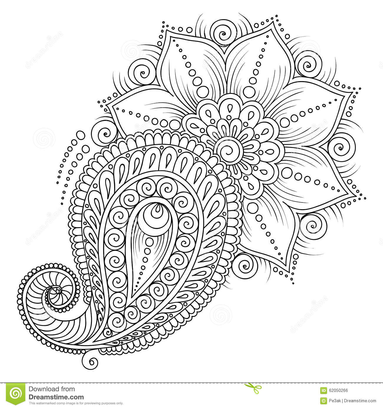 mehndi designs coloring book pages - photo#31
