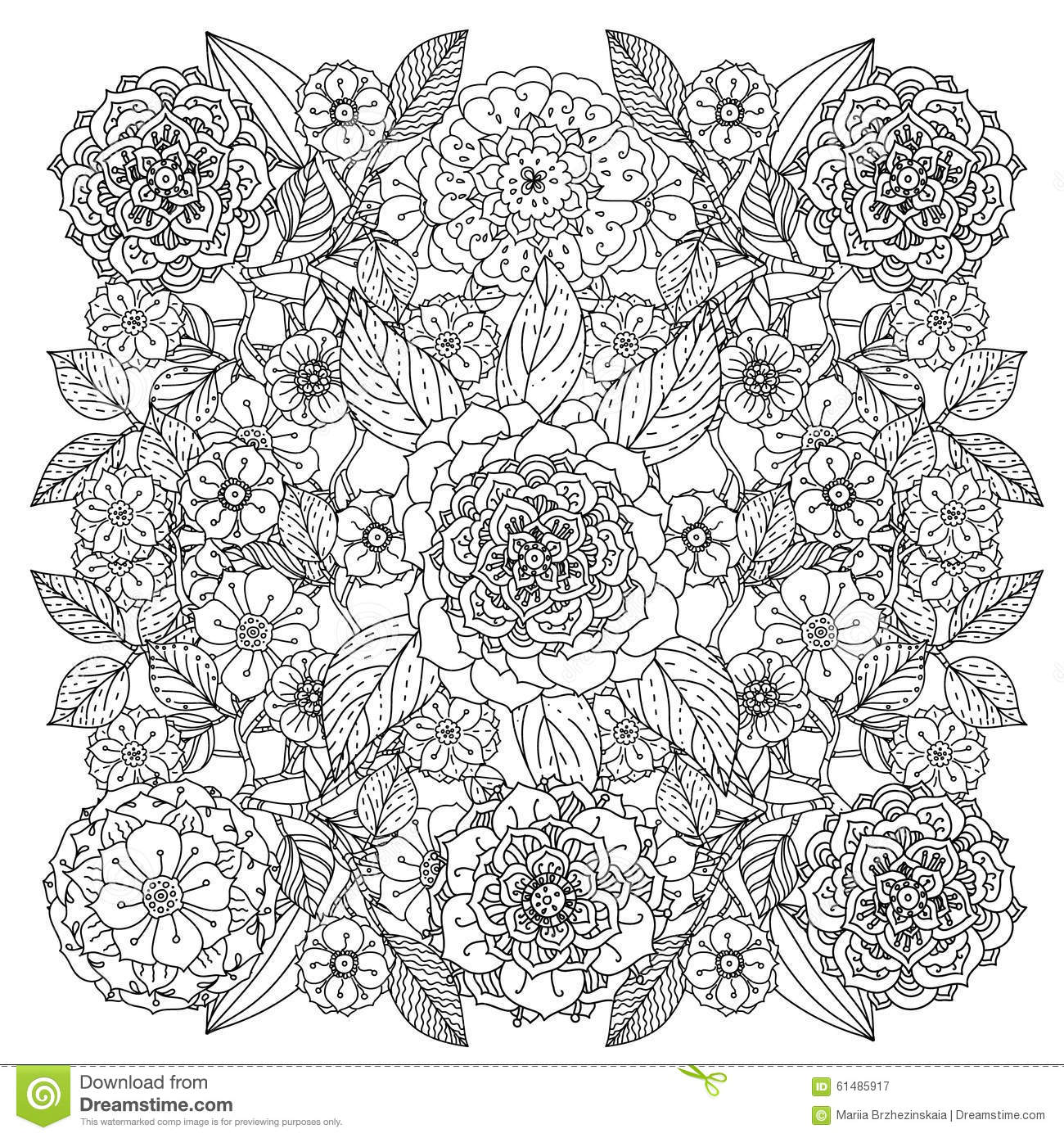 Colouring Patterns Books : Pattern for coloring book stock vector image