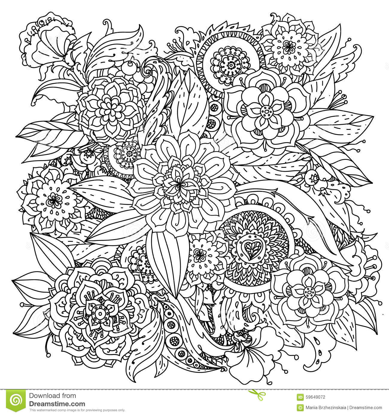 Pattern For Coloring Book Stock Vector - Image: 59649072