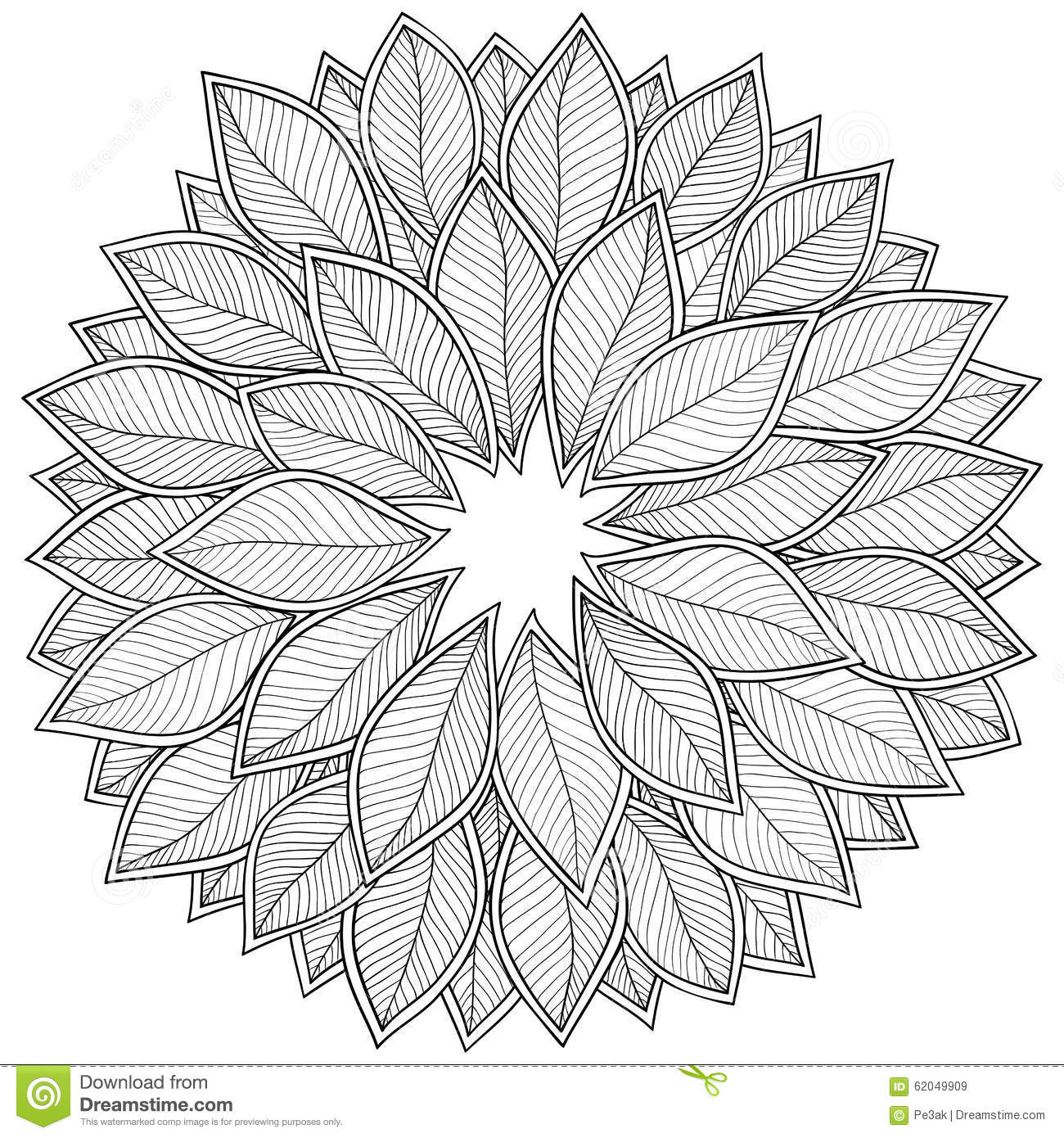 Pattern For Coloring Book Leaves Stock Vector