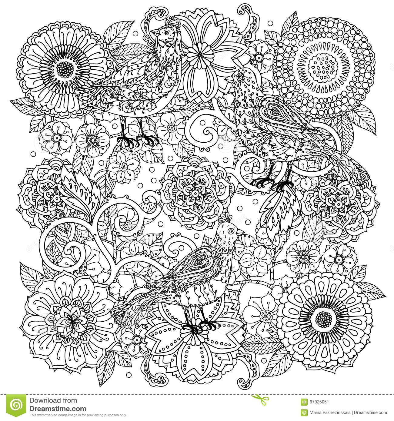 Pattern For Coloring Book Stock Vector Image Of Background