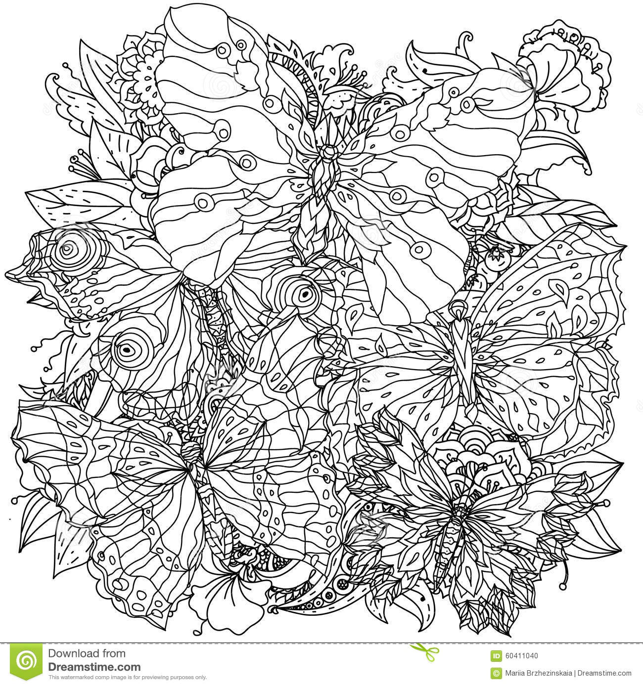 Zen colouring in book - Coloring Book Zen Pattern For Coloring Book Stock Photo