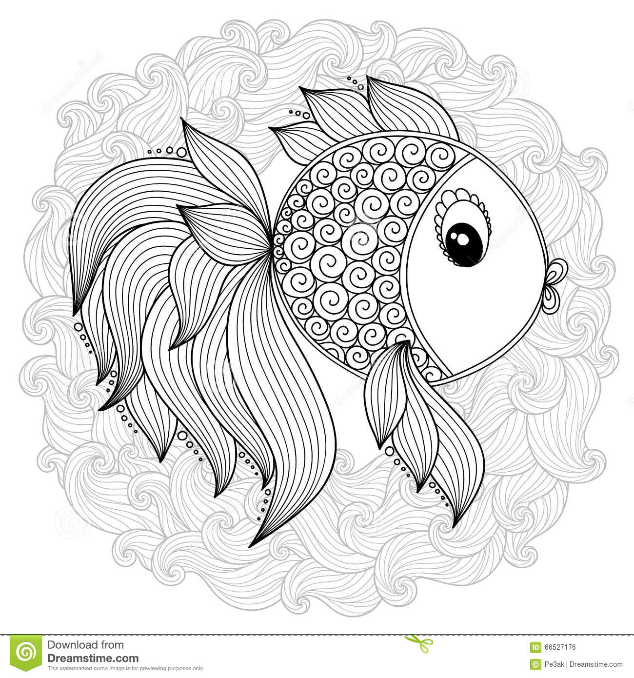 fish pattern coloring pages stock photography image 35460782