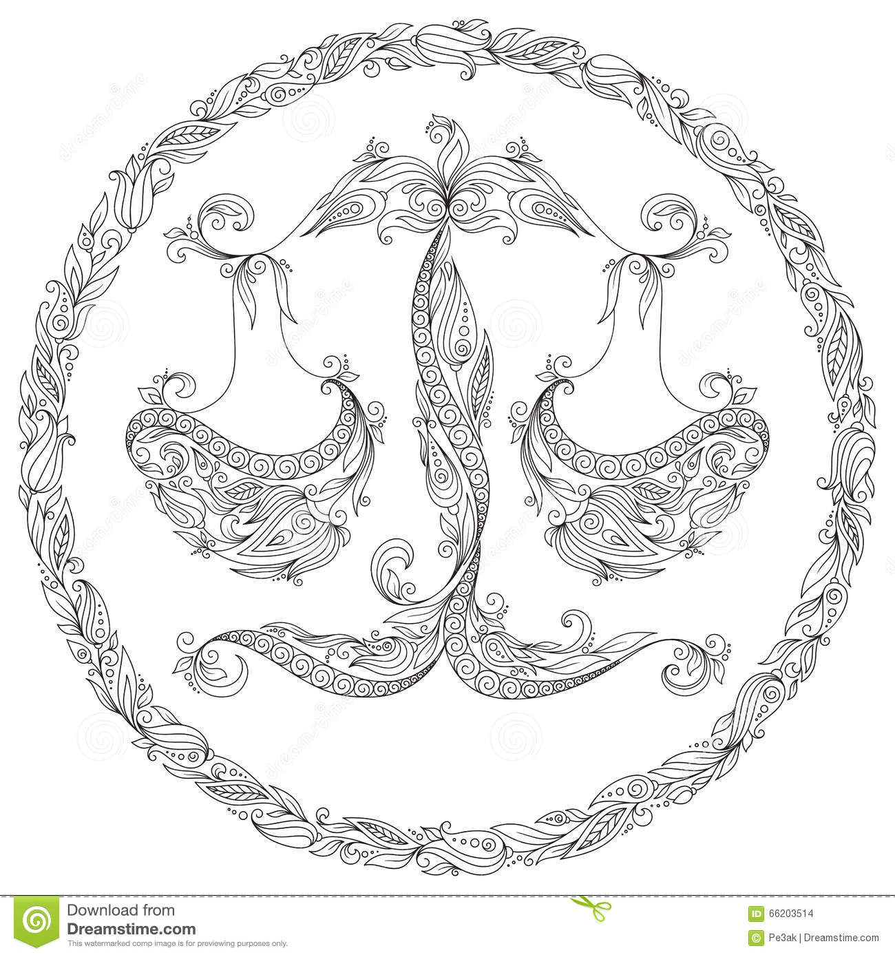 Coloring pages of mehndi hand pattern - Royalty Free Illustration Download Pattern For Coloring