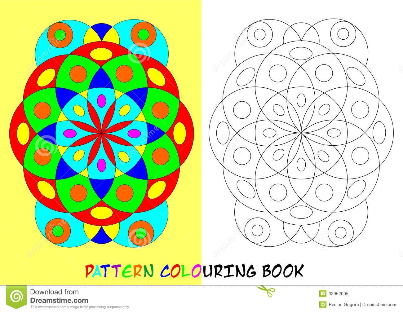 Colouring book - Pattern Colouring Book Cdr Format Royalty Free Stock Photo