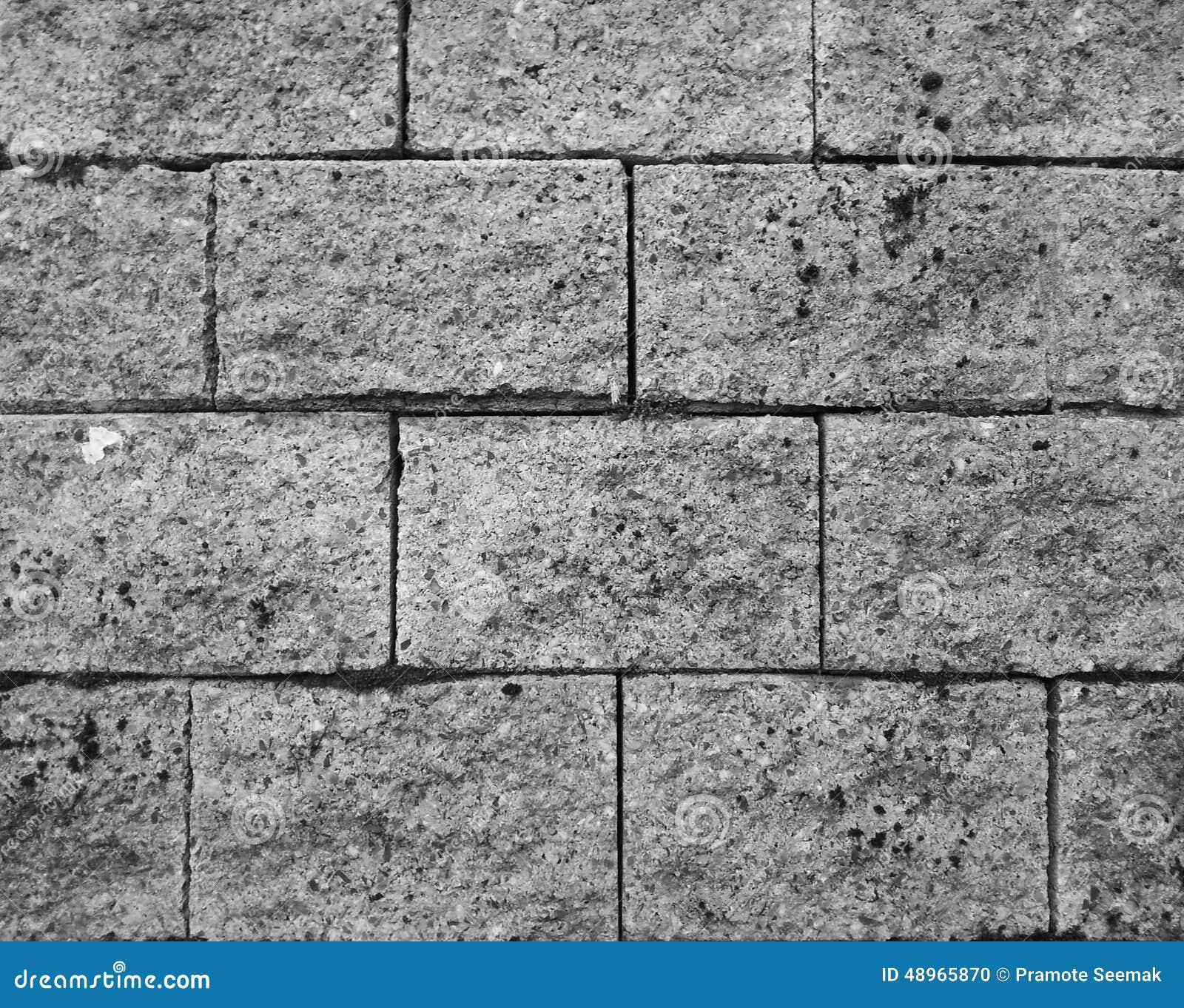 Pattern of concrete block