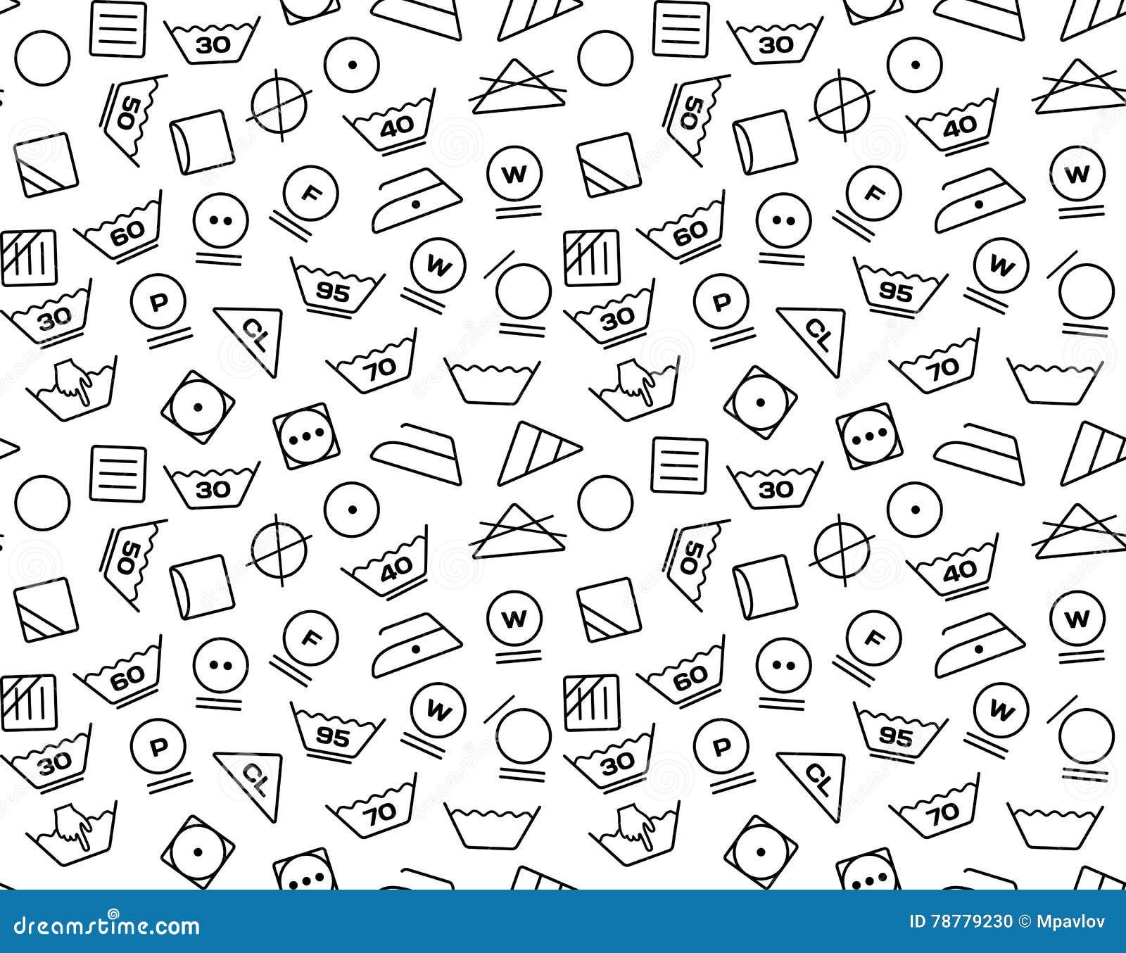 Pattern created from laundry washing symbols on a white background pattern created from laundry washing symbols on a white background symbol clothing biocorpaavc Images