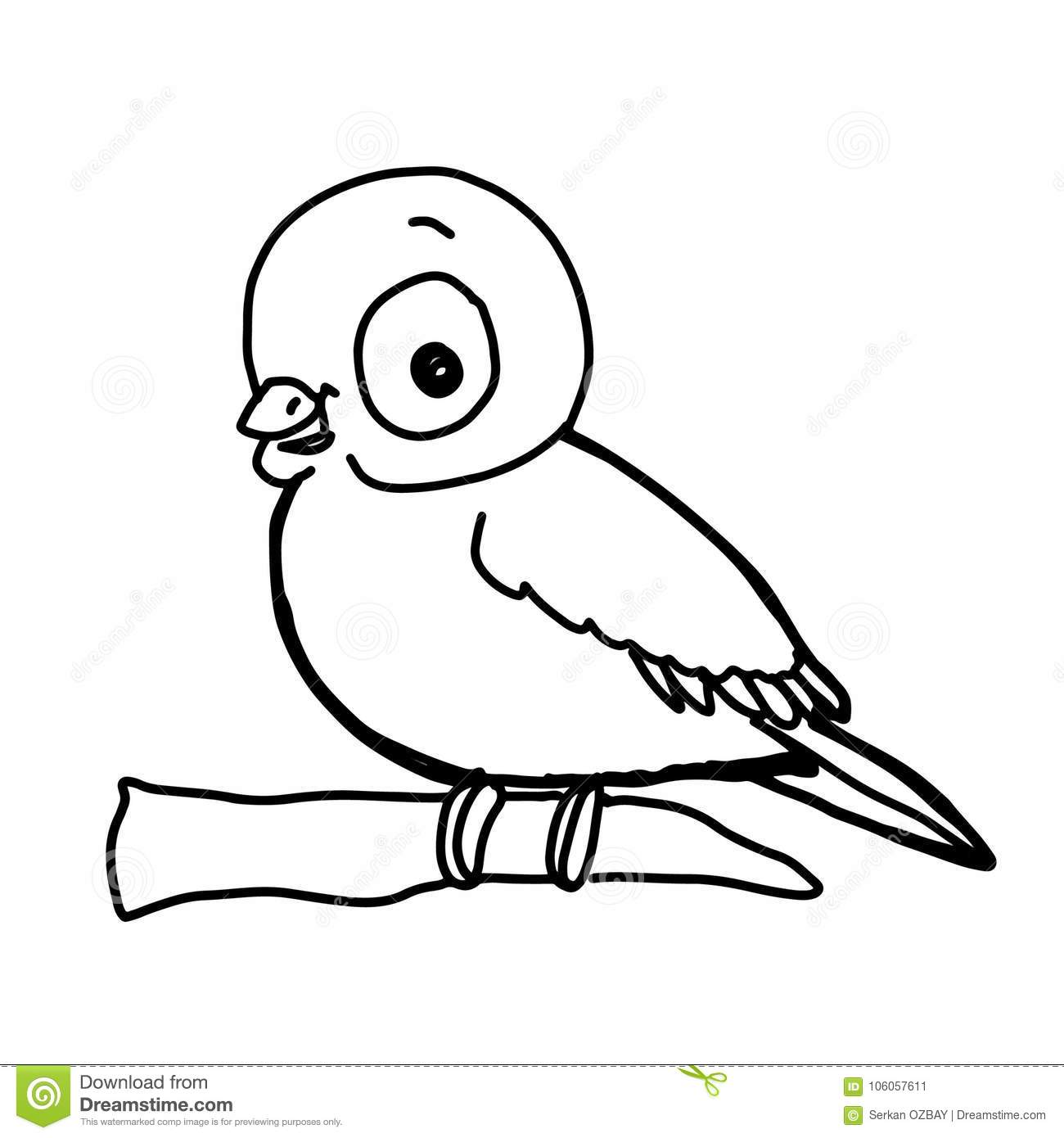 Pattern Cute Bird Flying Illustration Drawing Color And