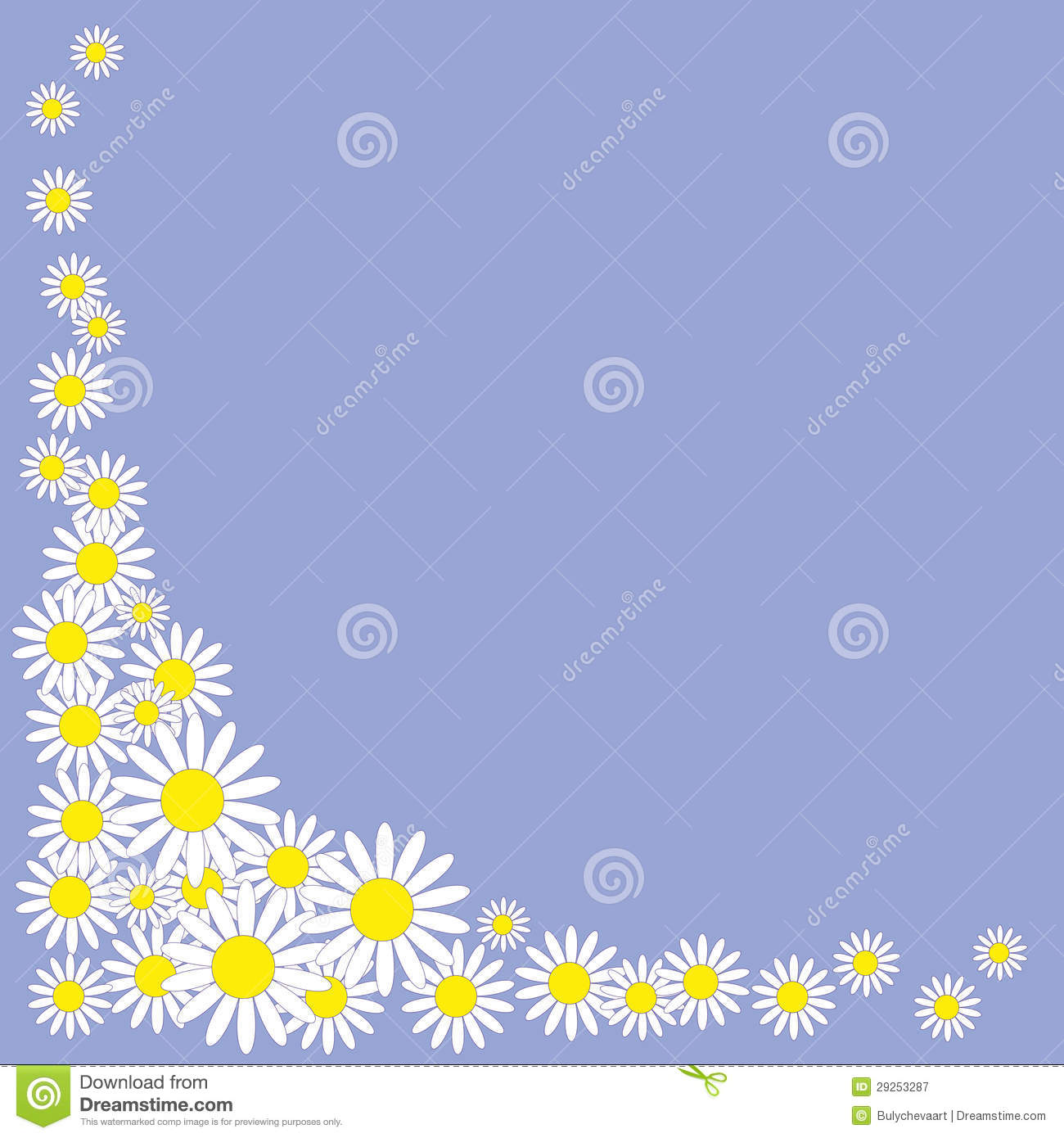 pattern of daisies on background royalty free stock