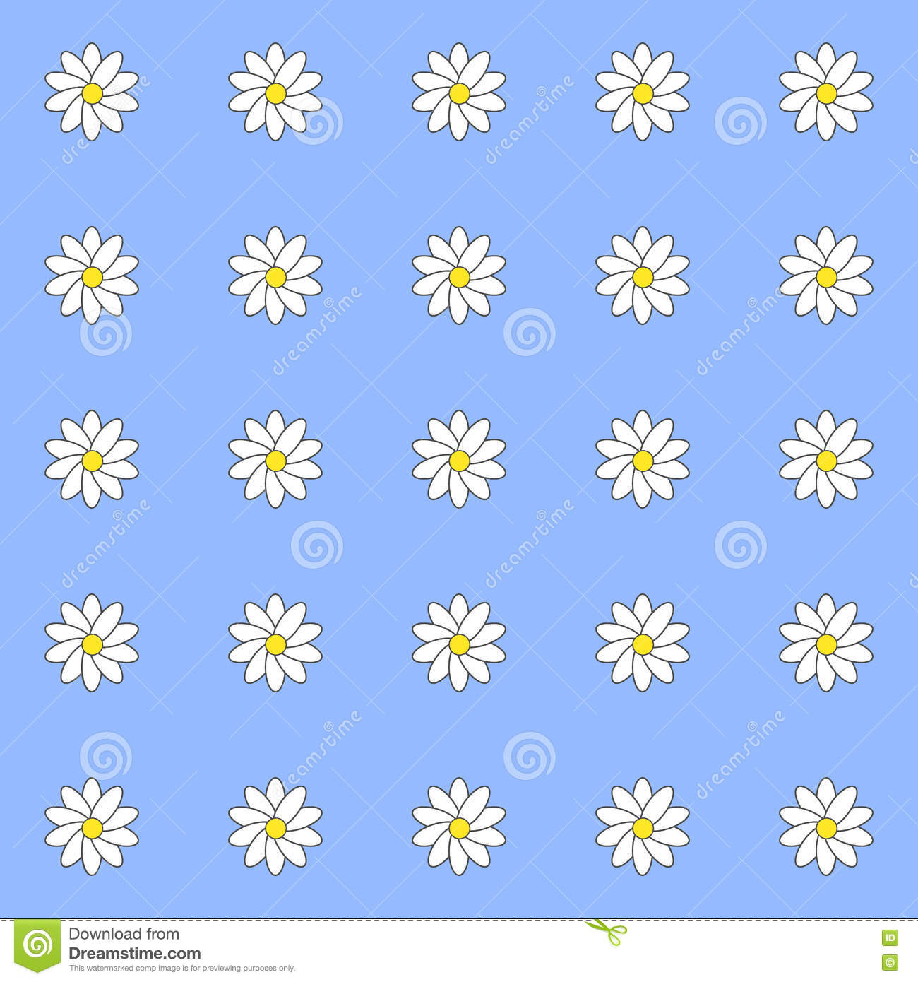 pattern of daisies stock vector image of daisy paper