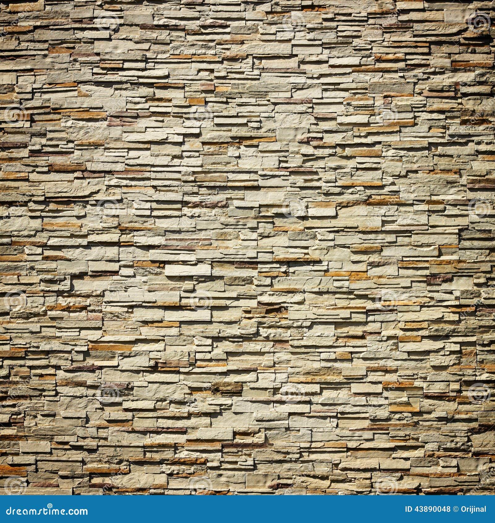 Decorative Wall Stone : Pattern of decorative slate stone wall stock photo image