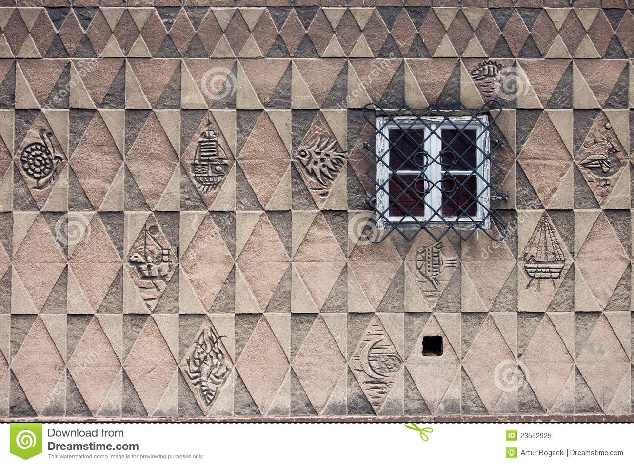 Pattern Design On House Wall Royalty Free Stock Photo Image. House Wall Designs