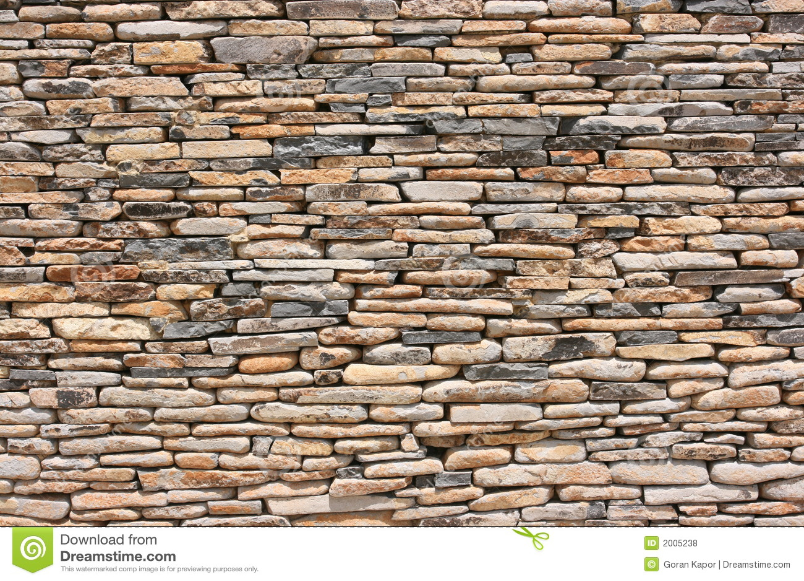 dry pattern stone wall