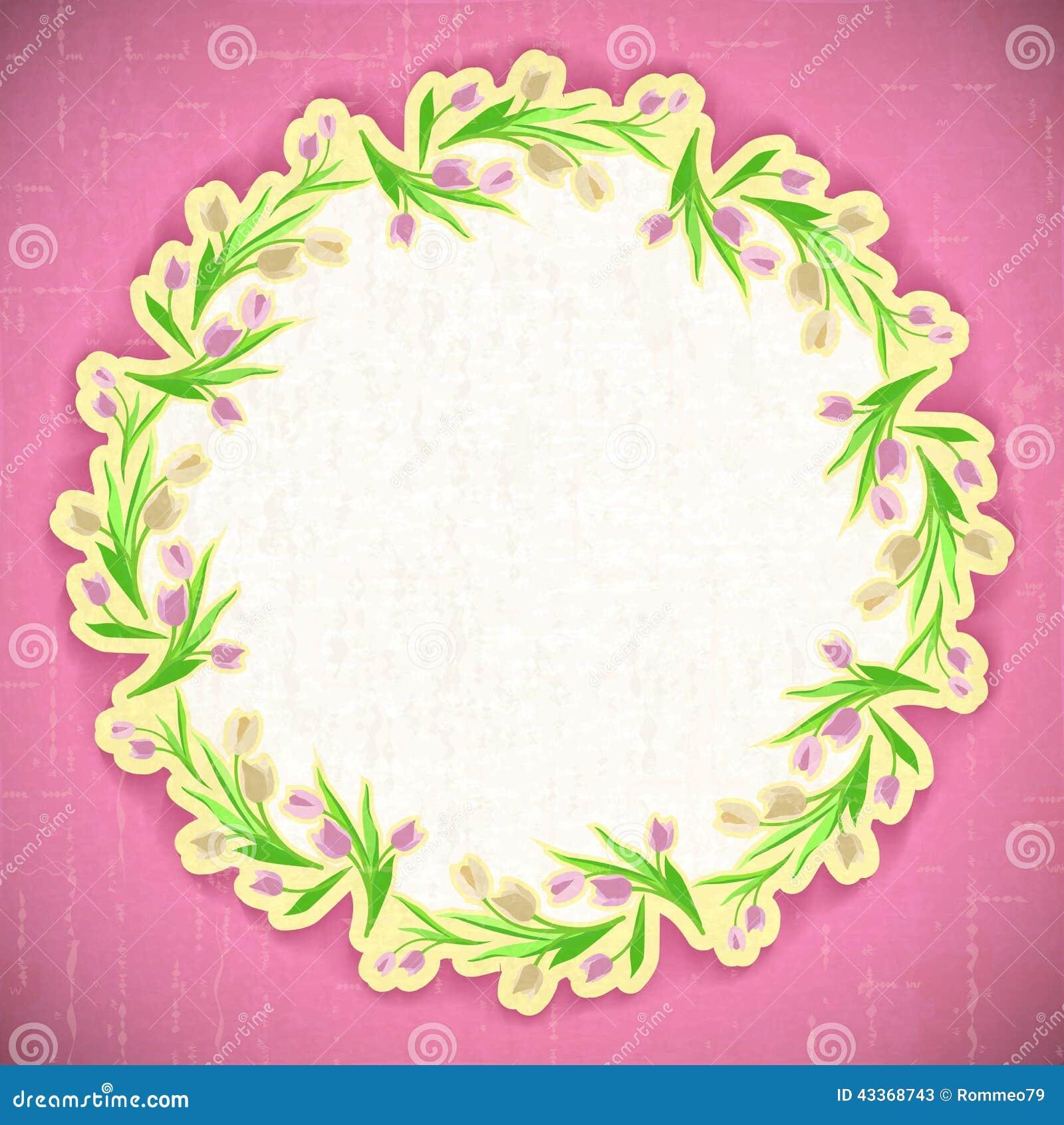 Pattern Flower Background Vector April Web Stock Vector