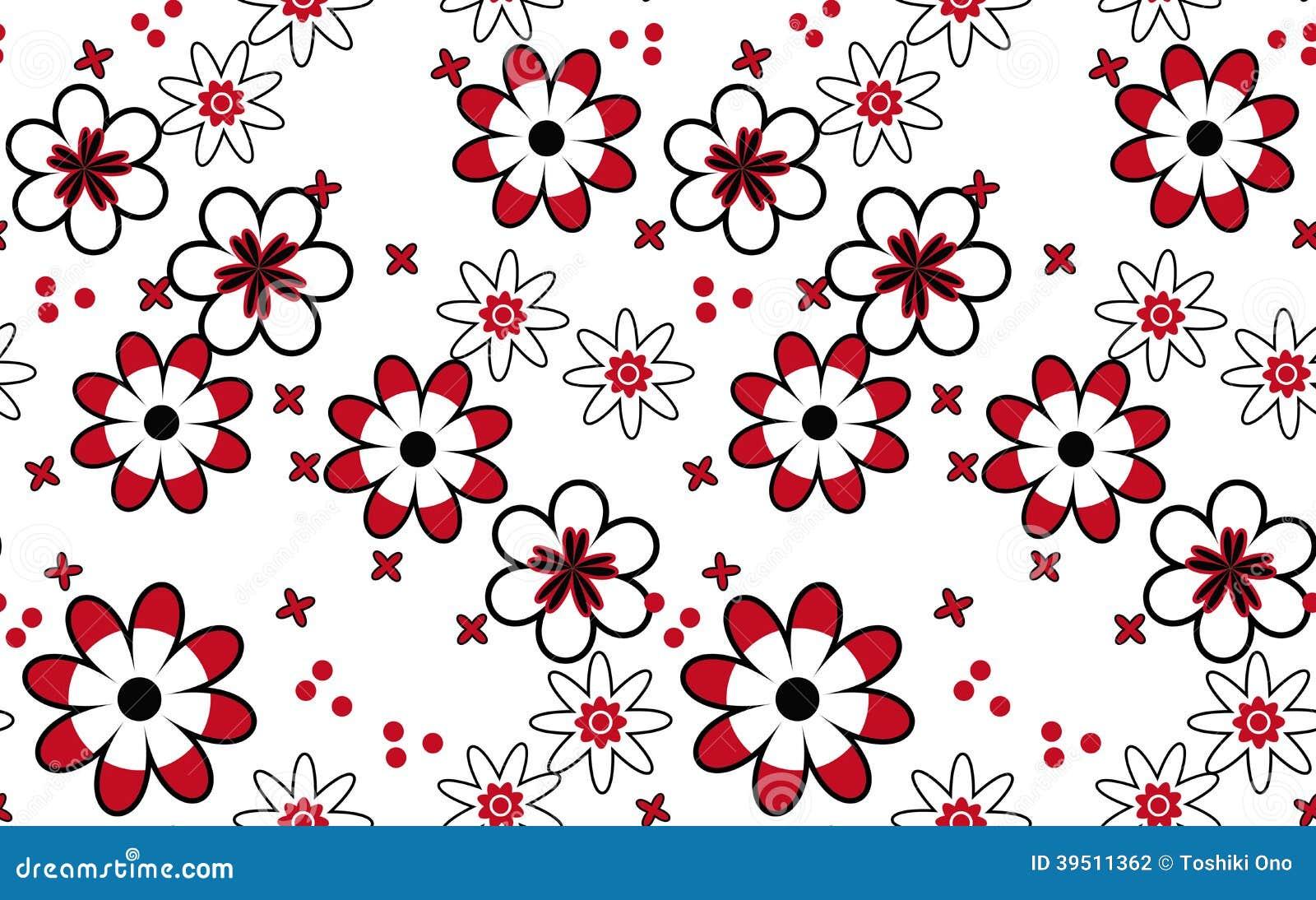 Pattern of flowers.