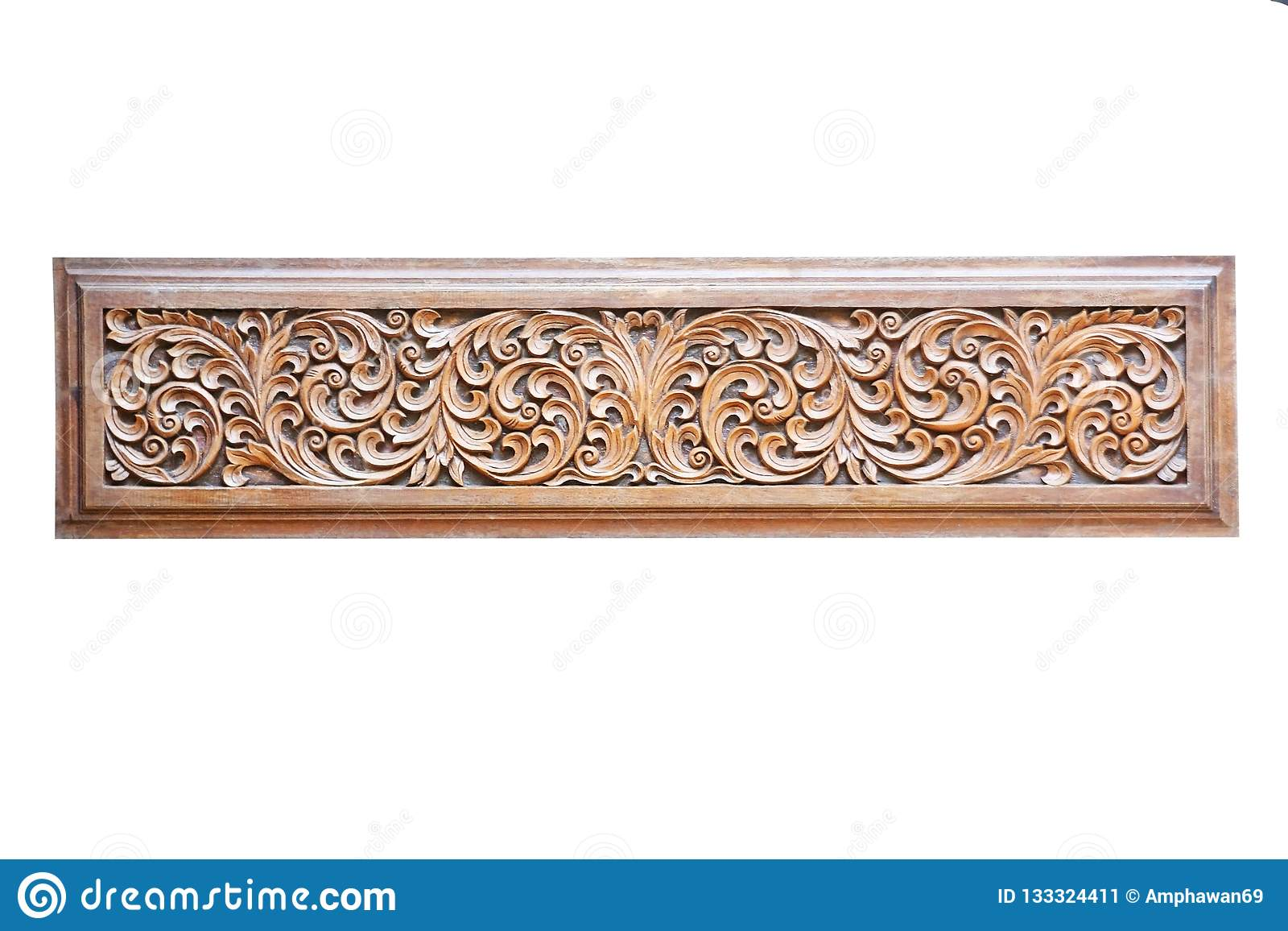 pattern flowers carving wood frame pattern flowers carving wood frame isolated white background