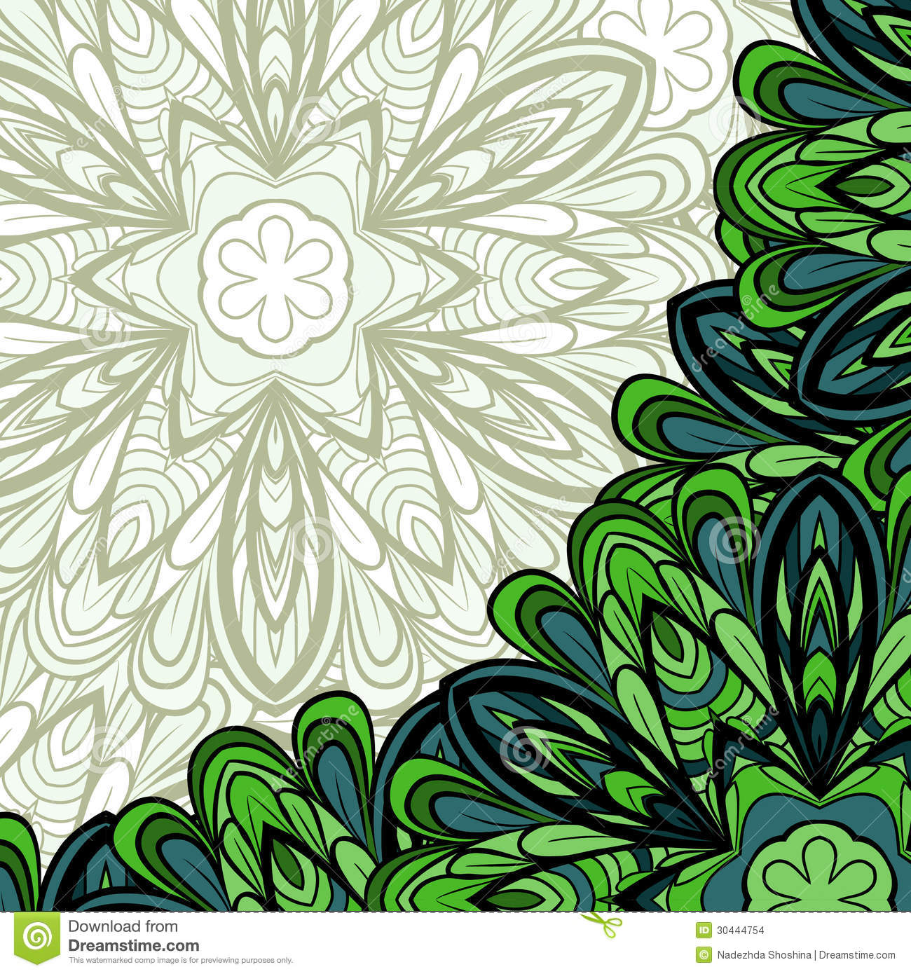Pattern With Green Corner Stock Images - Image: 30444754