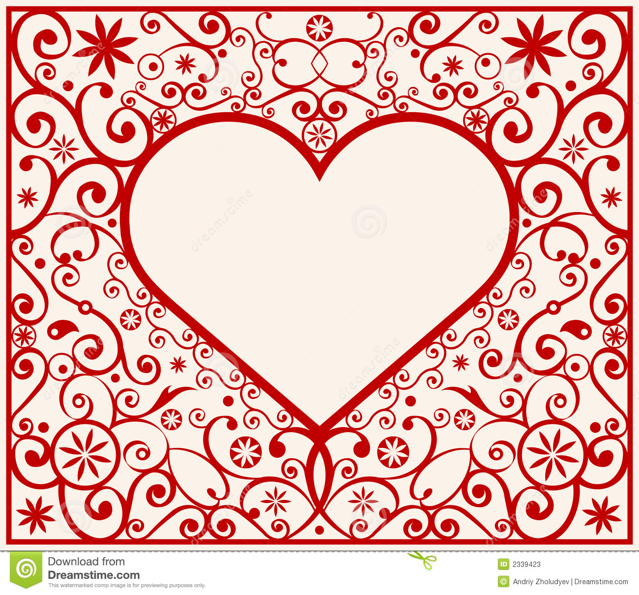 Pattern heart frame stock vector. Illustration of decor - 2339423