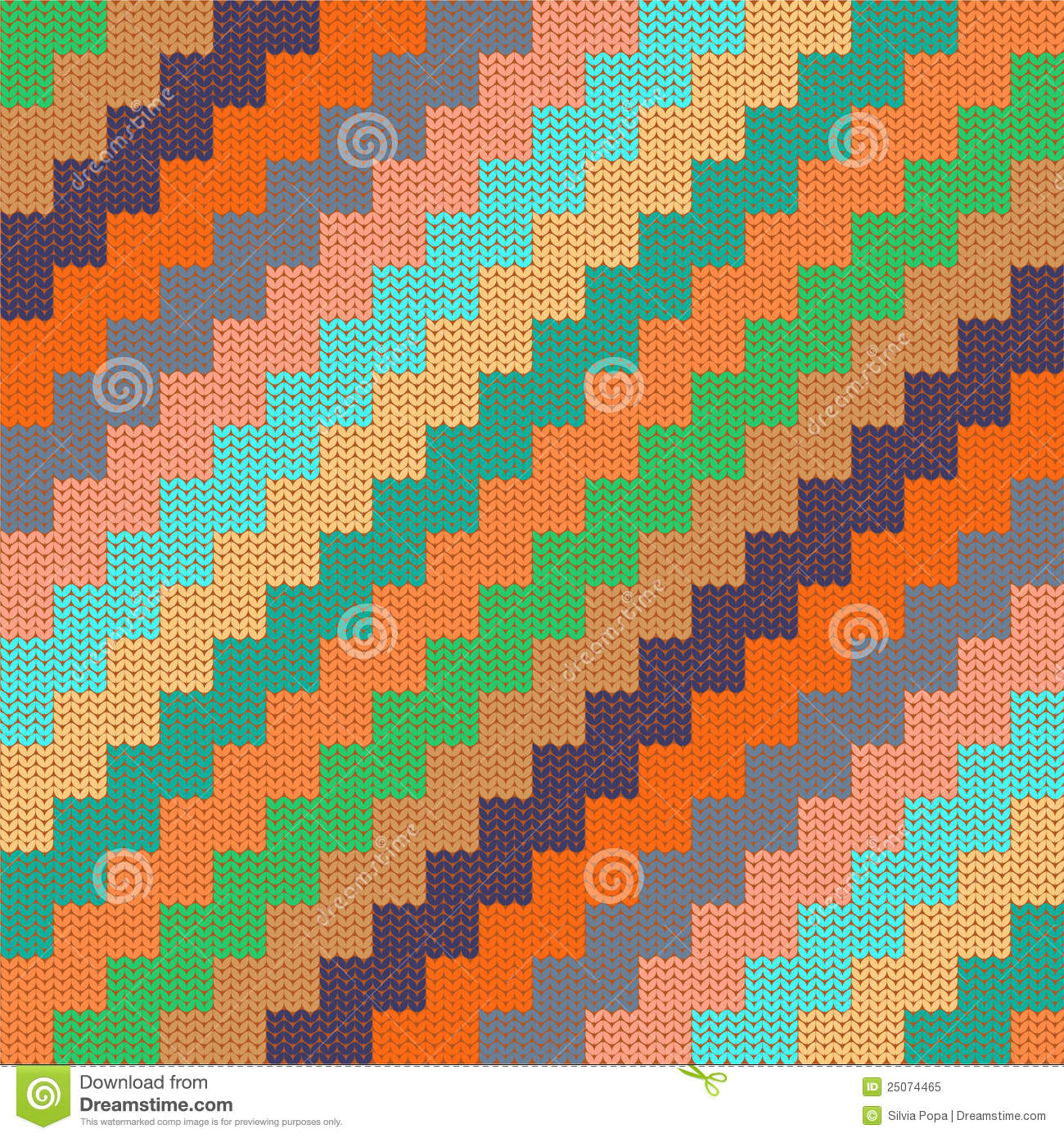 Pattern With Knitted Zigzag Royalty Free Stock Photo - Image: 25074465