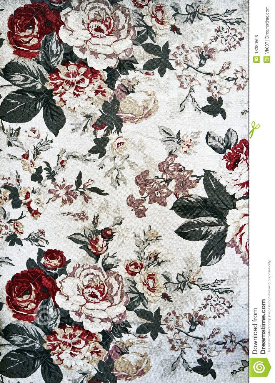 Pattern Of Light Floral Tapestry Stock Photo Image 18380596