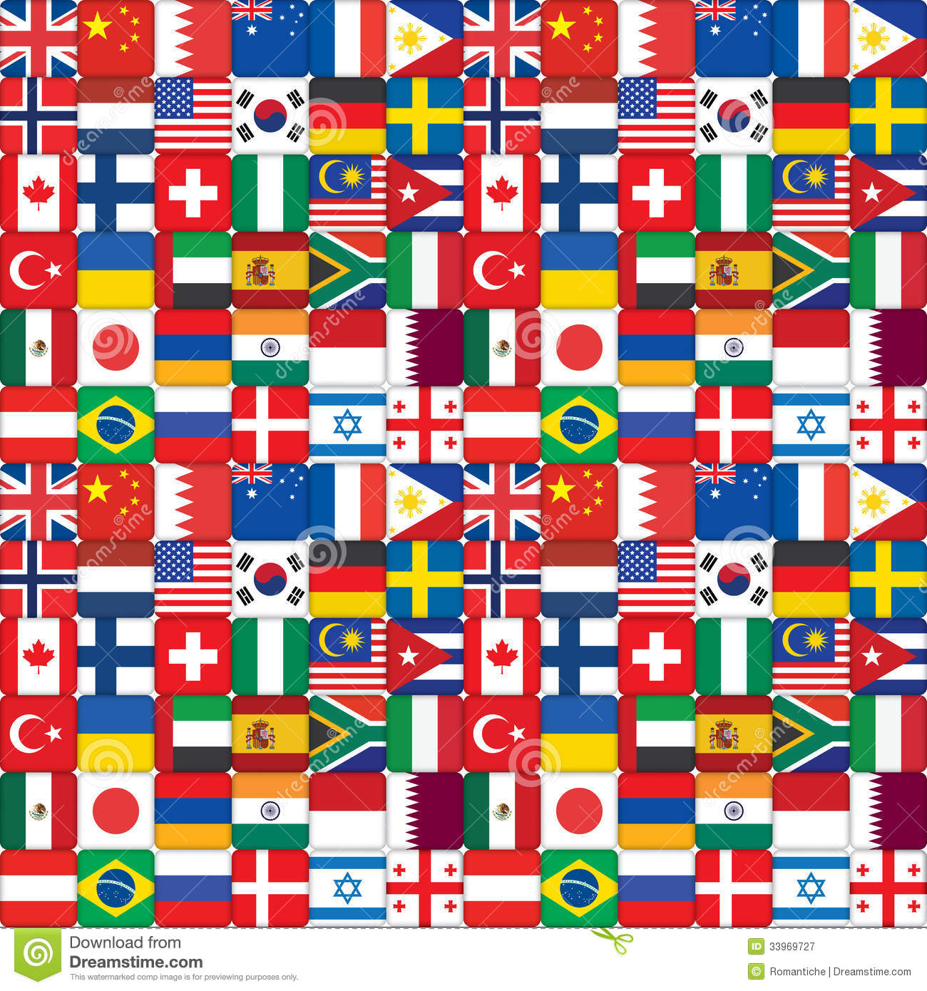 Pattern Made Of Flag I... Mexico Country Vector