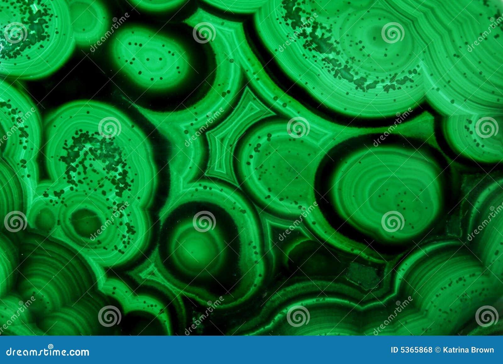 Pattern Malachite Natural Gem Crystal Close Up