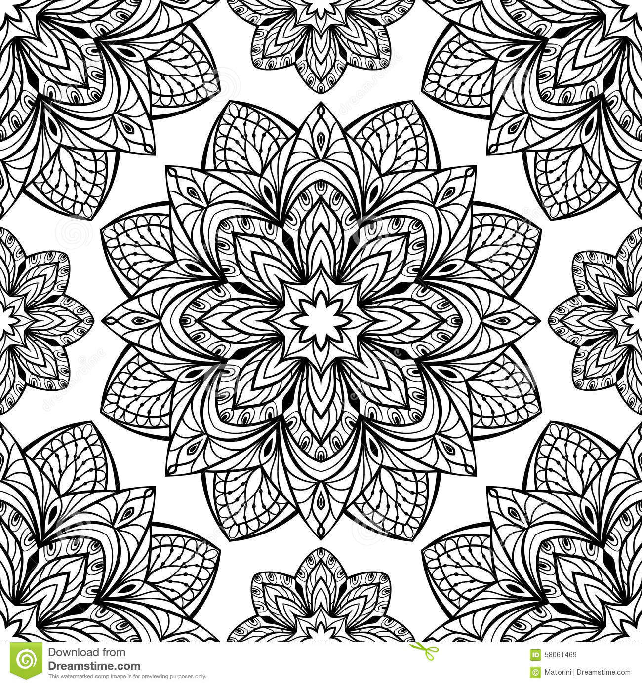 The Pattern Of Mandalas Stock Vector Image 58061469