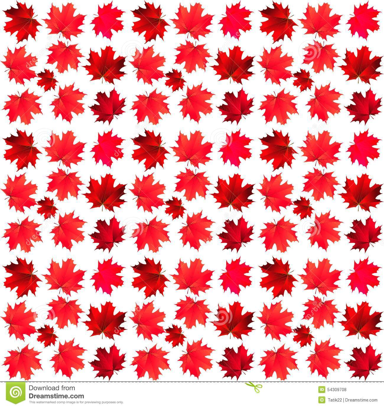 Pattern of maple leaves stock vector. Illustration of ...