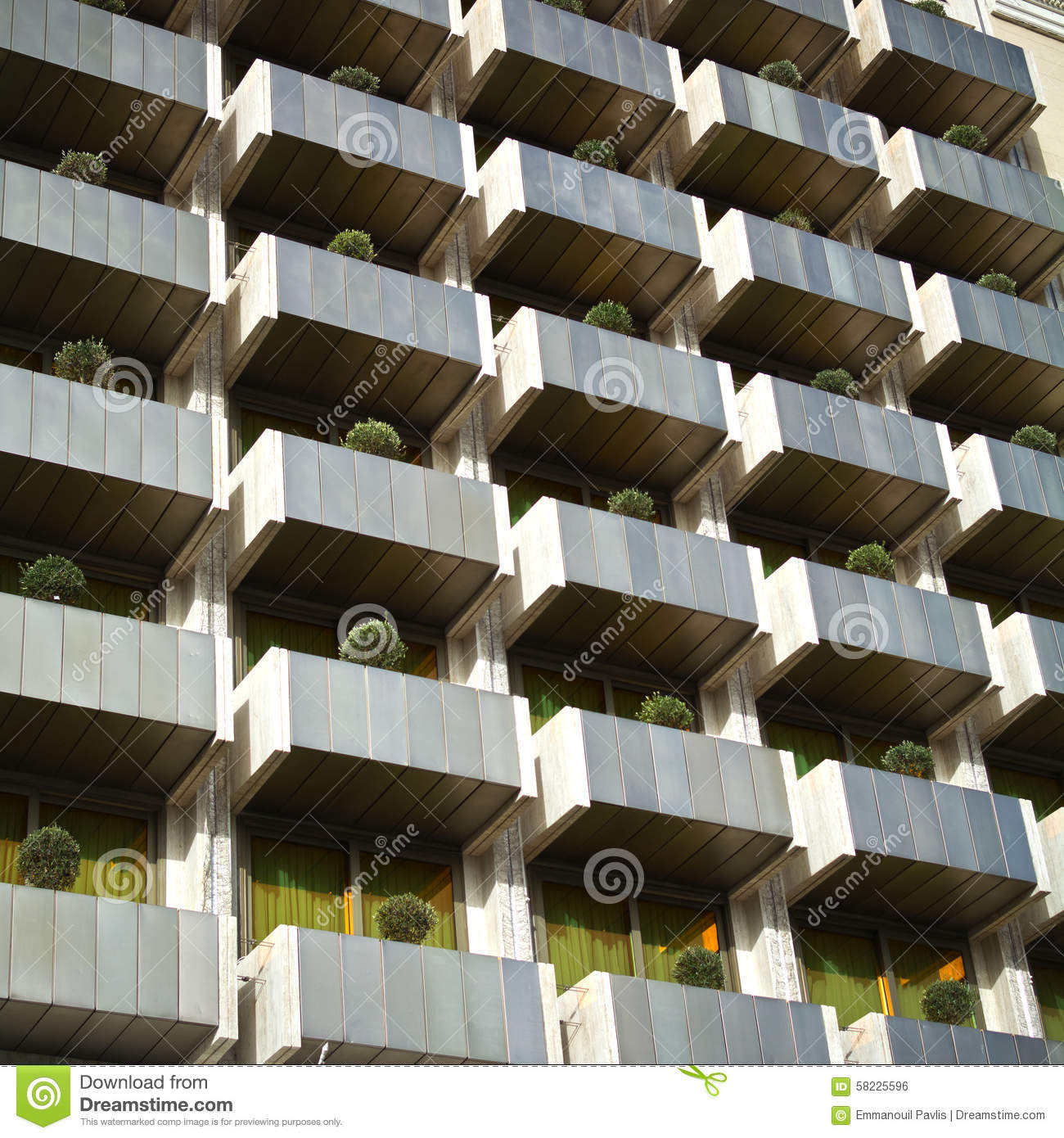 Pattern Of Modern Apartment Building Royalty Free Stock Image