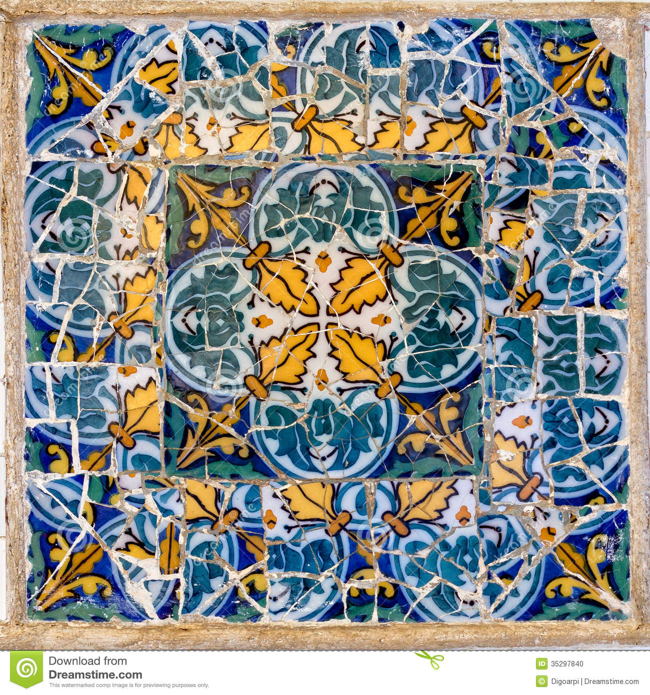 Pattern Mota Stock Photo Image Of Guell Landmark