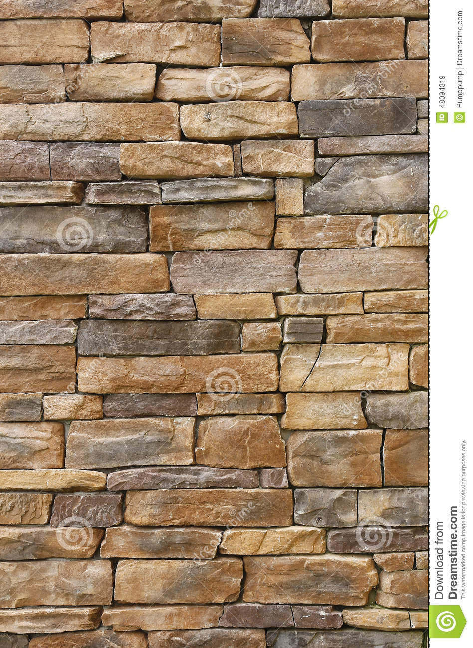 Vintage Stone Walls : Pattern of old stone wall stock photo image