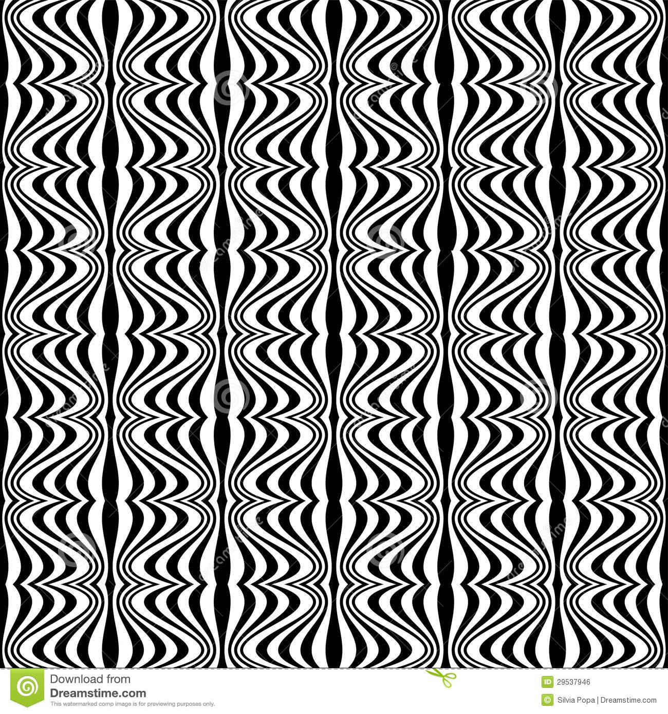 Pattern Optical Illusion With Geometric Drawing Royalty