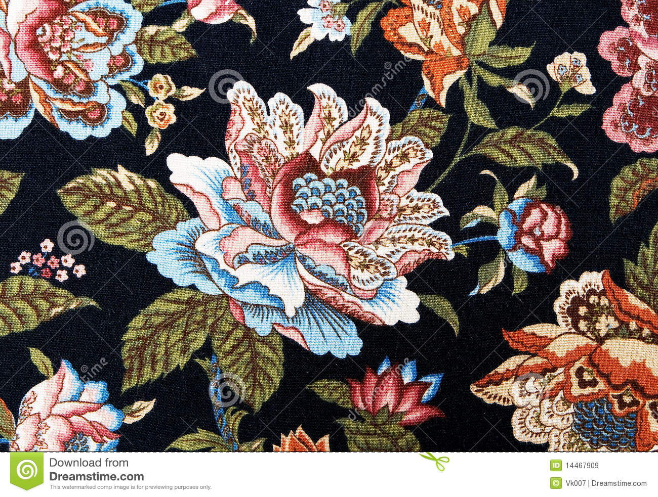 Pattern Of An Ornate Colorful Floral Tapestry Royalty Free