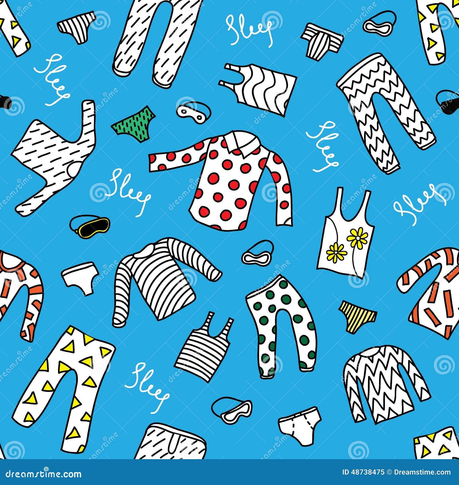 Pattern Pajamas Stock Vector Image 48738475